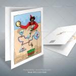 کارت تبریک تبلیغاتی صنعتی - سفارش تصویر سازی زیبا و حرفه ای در اصفهان