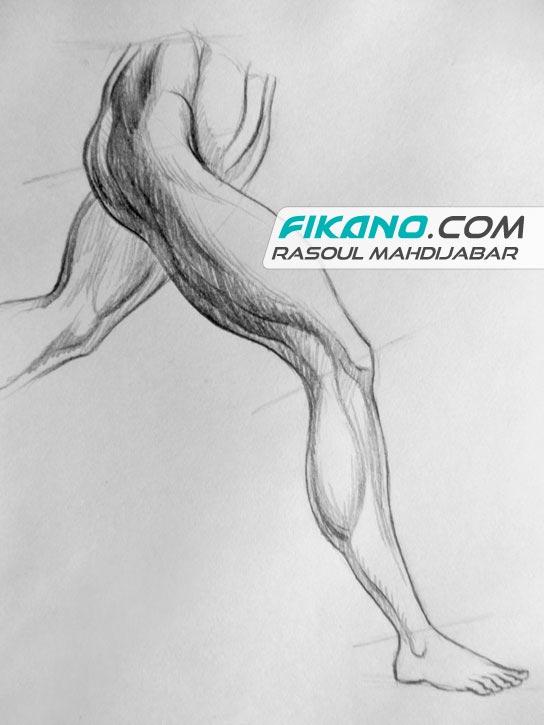 آموزش طراحی شخصیت - طراحی از پا - سایت فیکانو
