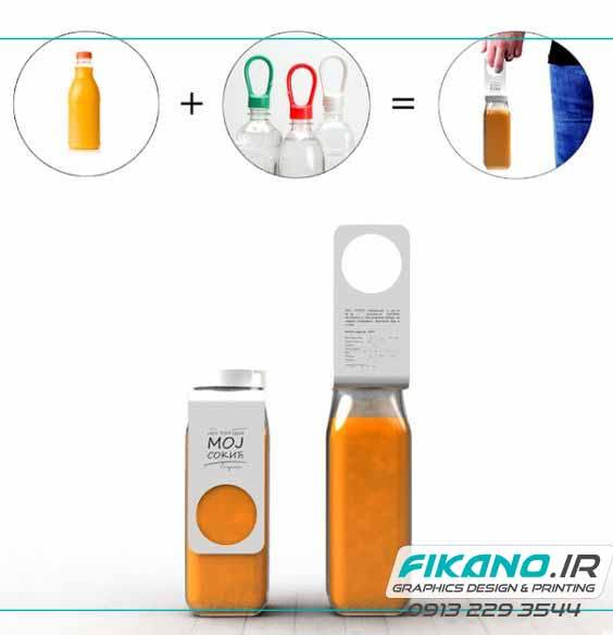 ایده ای زیبا برای حمل بطری ها