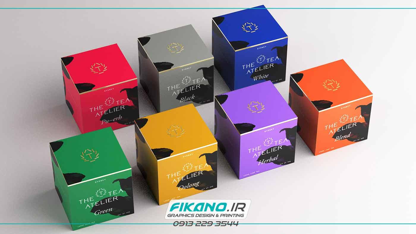 سفارش طراحی بسته بندی چای - در وب سایت فیکانو www.fikano.ir