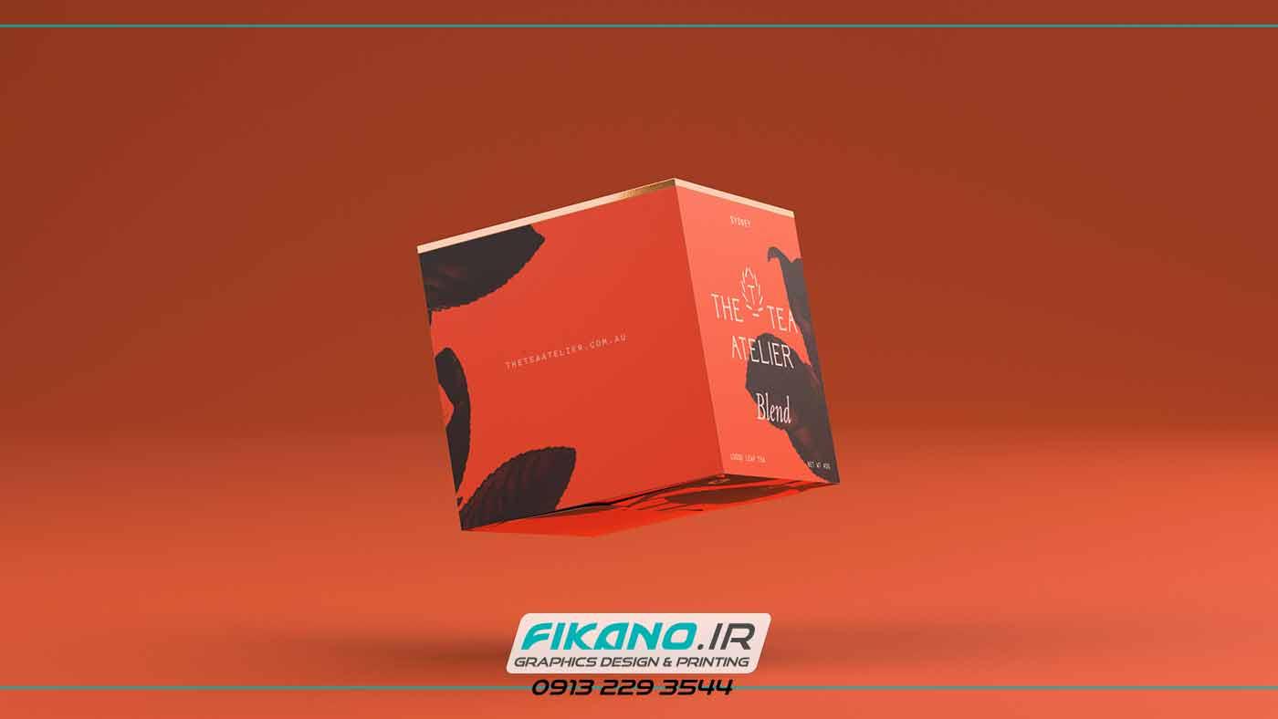 ضرب المثل با نقاشی طراحی بسته بندی حرفه ای برای چای - طراحی گرافیک و چاپ فیکانو