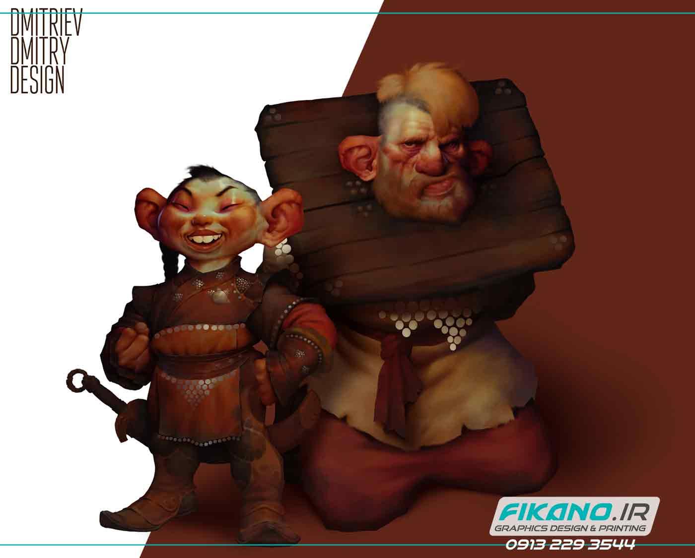 سفارش تصویر سازی و طراحی کاراکتر - سایت فیکانو www.fikano.ir