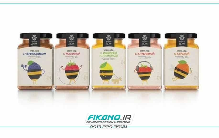 سفارش طراحی بسته بندی خوراکی و عسل - سایت فیکانو www.fikano.ir